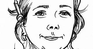 Alexia-Karikatur-sw