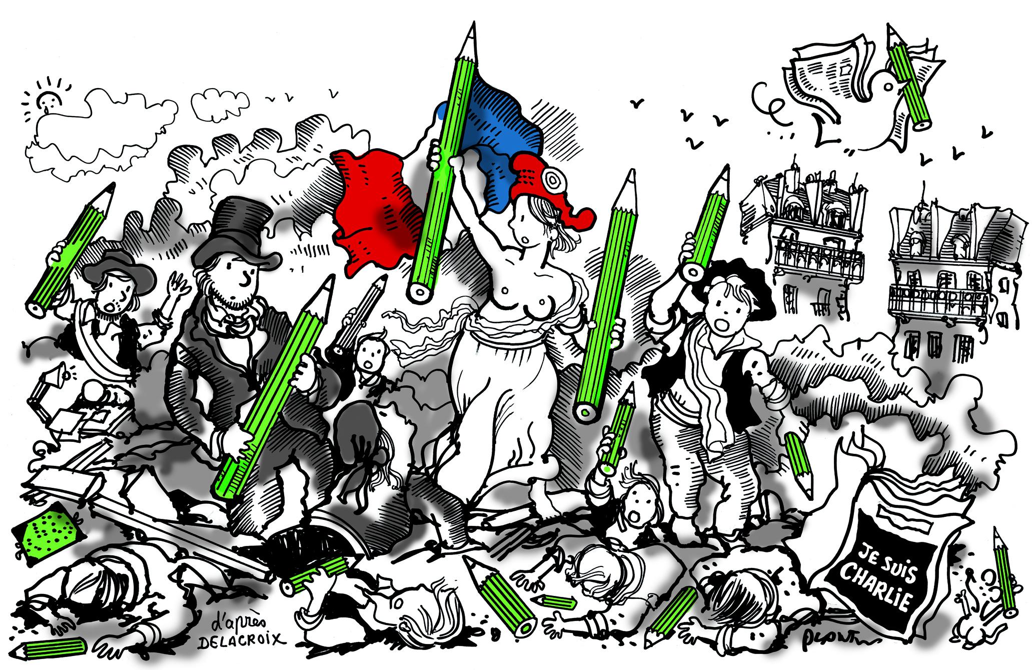 Comprendre le tableau célèbre de DELACROIX : La Liberté guidant le peuple