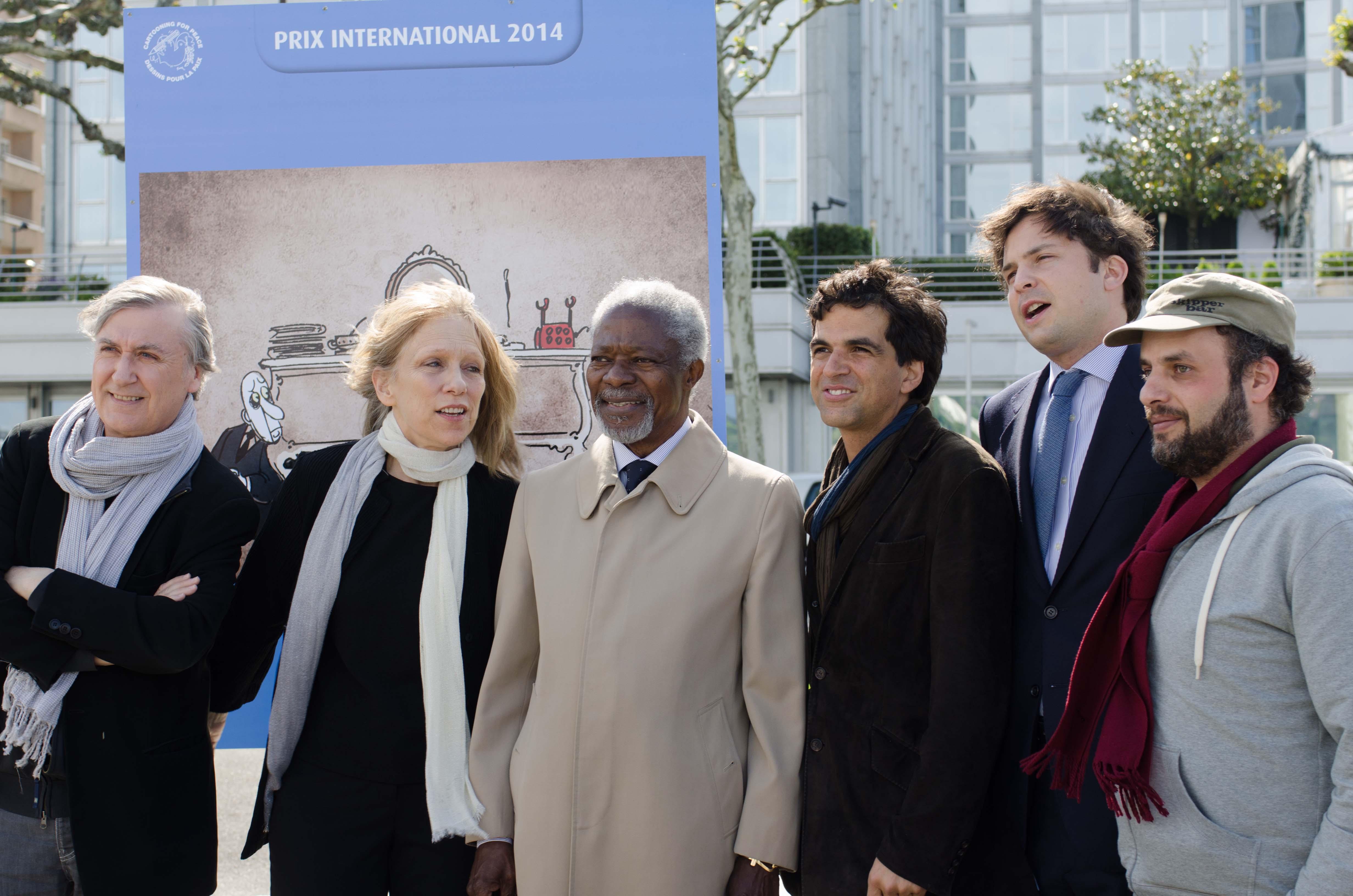 Plantu, Liza Donnelly, Kofi Annan, Chappatte et Hani Abbas