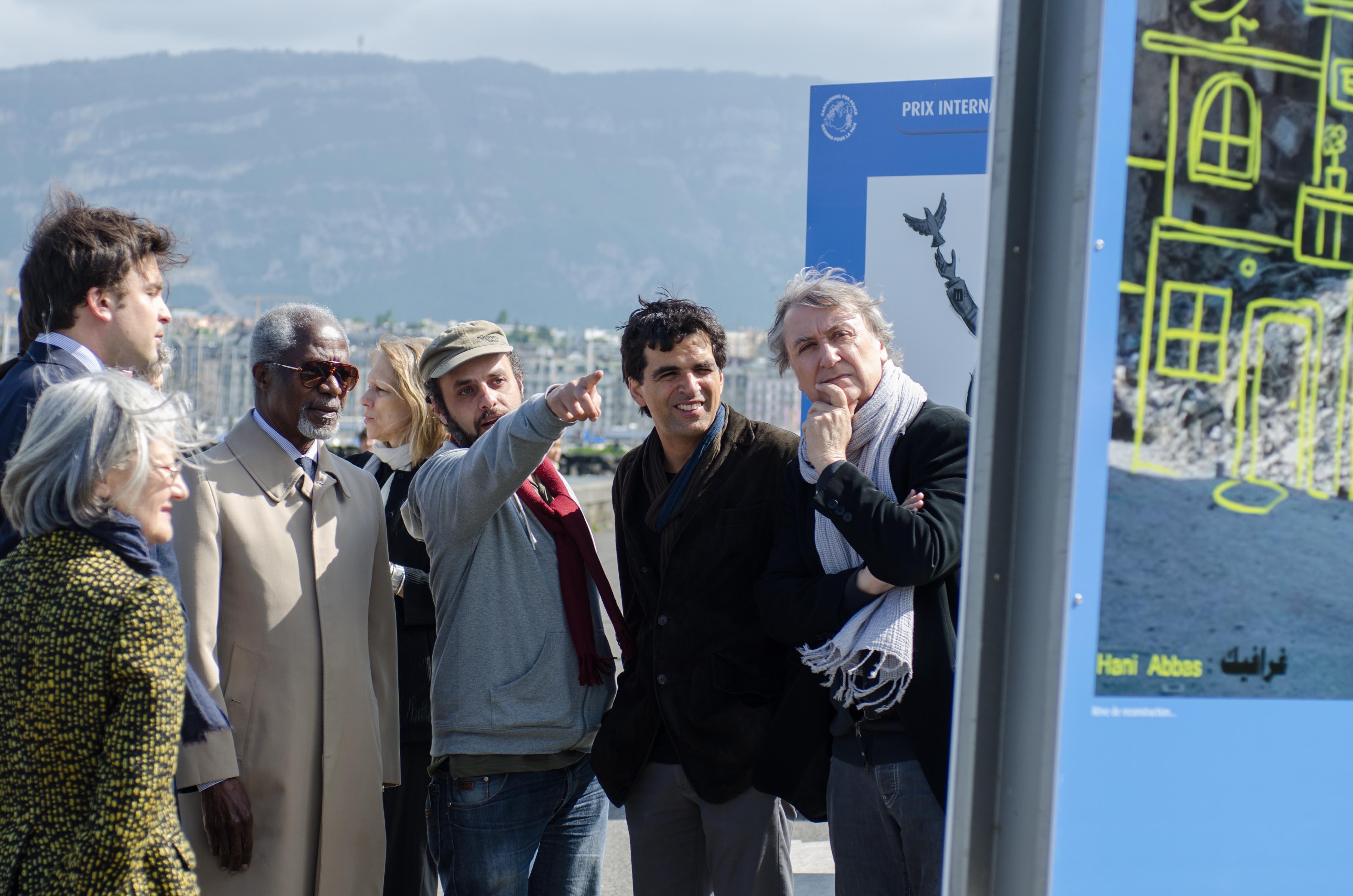 Inauguration de l'exposition, le 3 mai 2014
