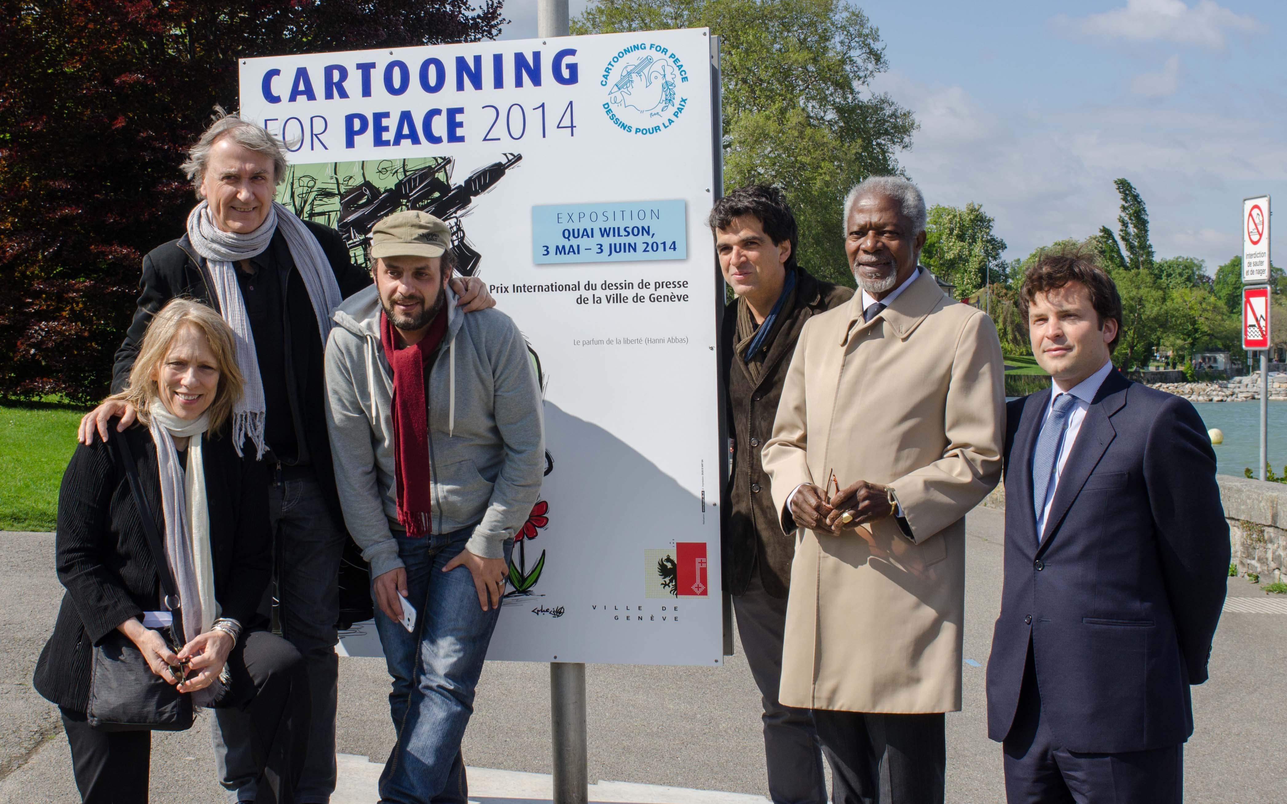 Inauguration de l'exposition en présence de Kofi Annan