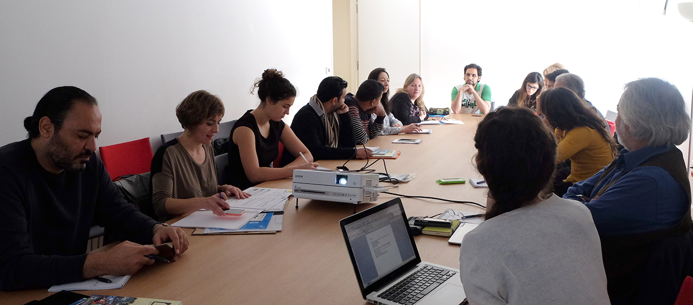 Working session about the exhibition roaming through Mediterranean countries, with NET-Med Youth members (UNESCO)