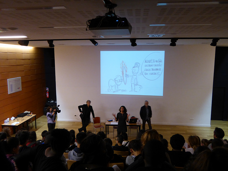 Discussion between cartoonists and pupils – Collège du Vieux Port (Marseilles)