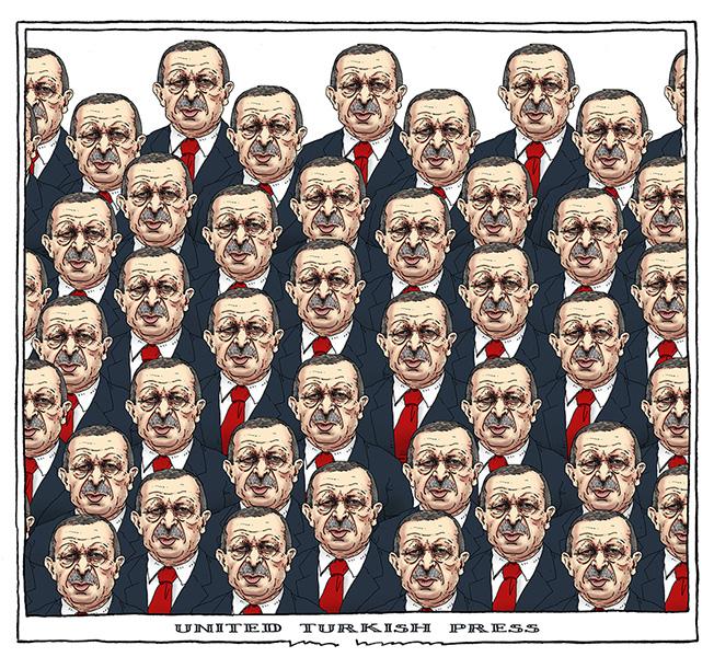 «La presse turque unifiée» – Joep Bertrams (Pays-Bas), publié dans De groene amsterdammer