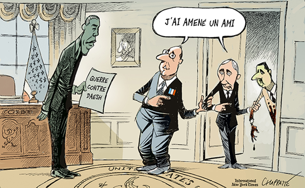 """Chappatte (Switzerland), published in """"The International New York Times"""""""