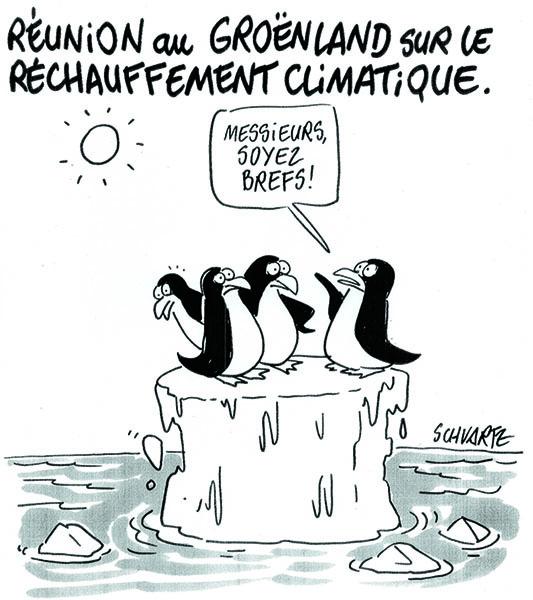 Réunion sur la banquise, par Schvartz (France) – Gazette de la COP du 29/11/2015