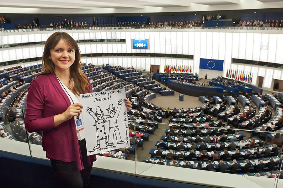 Nani (Espagne) – Dessin live pendant la remise du Prix Sakharov – 16 décembre