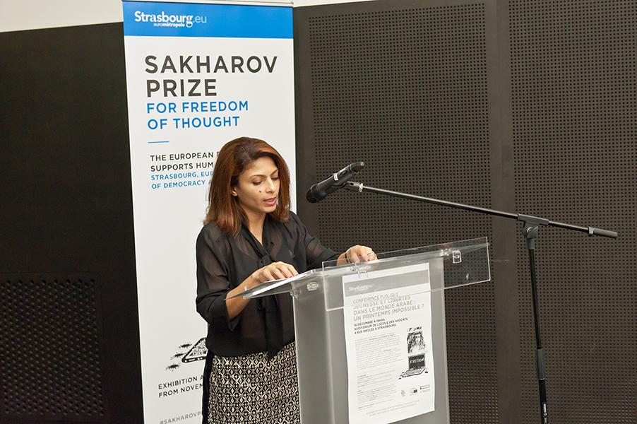Discours d'Ensaf Haidar – Université de Strasbourg, 16 décembre