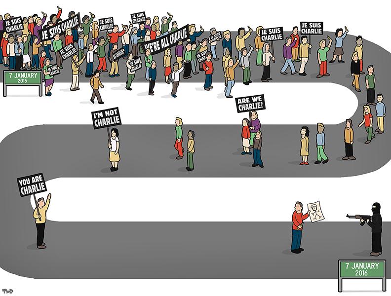 160106 Charlie Hebdo anniversary-BD