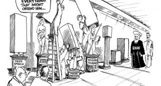 - Nous sommes entrain de couvrir tout ce qui pourrait l'offenser ... : liberté d'expression, droits de la femme, liberté de la presse, tolérance religieuse