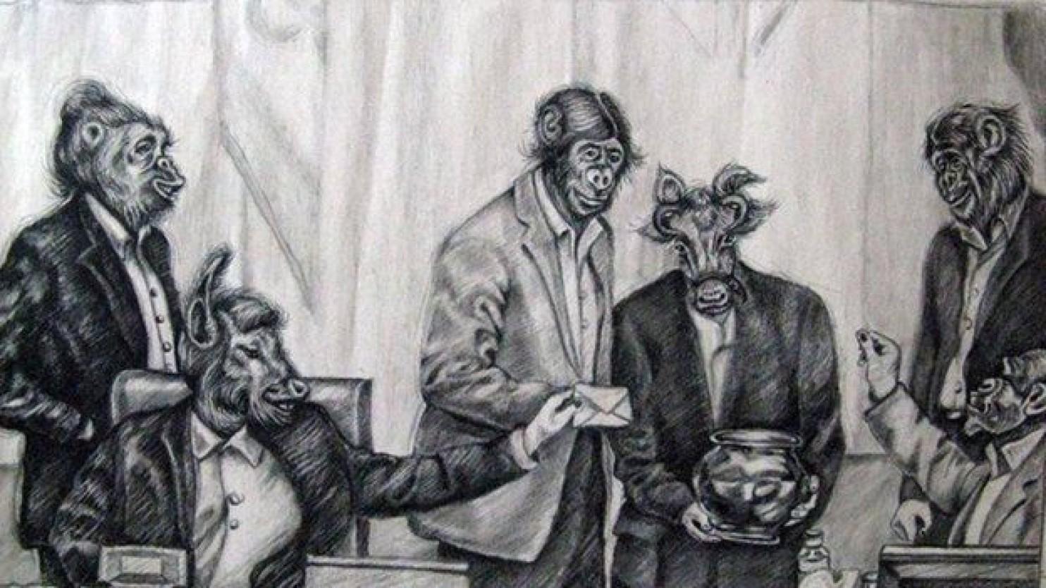 Atena Farghadani's incriminated cartoon