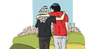 BIANI-PROCHE ORIENT-israele palestina abbracci- HD