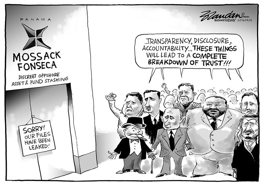Brandan (Afrique du Sud), publié dans Business Day