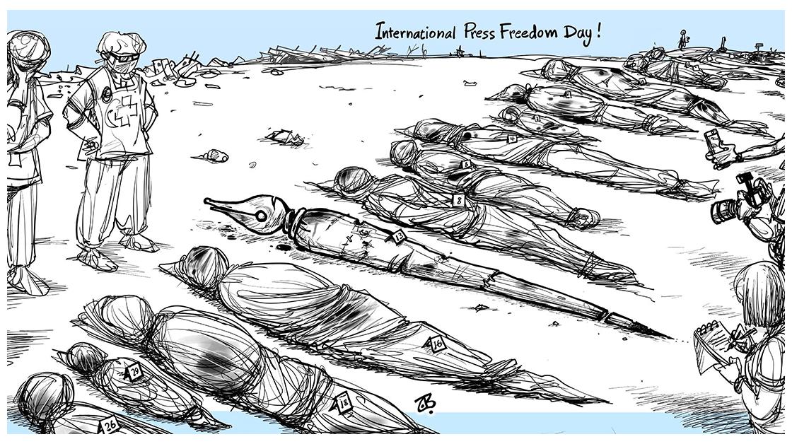 Emad Hajjaj (Jordan), published on CagleCartoons