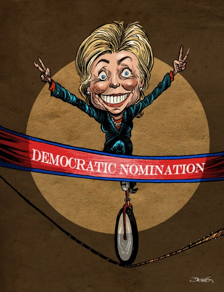 Hillary Clinton vue par Darío (Mexique)