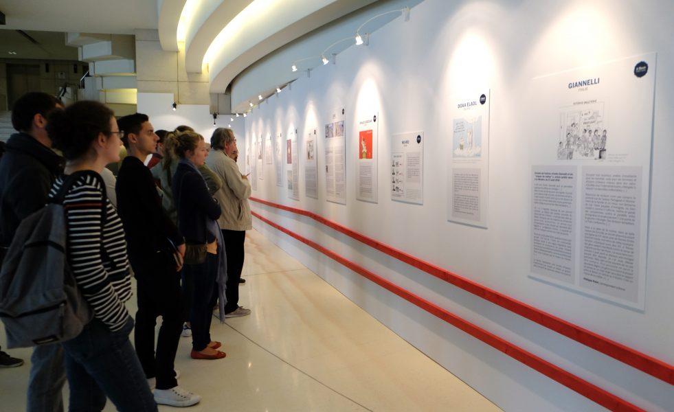 Exposition «les dessinateurs de presse en première ligne» au Monde Festival