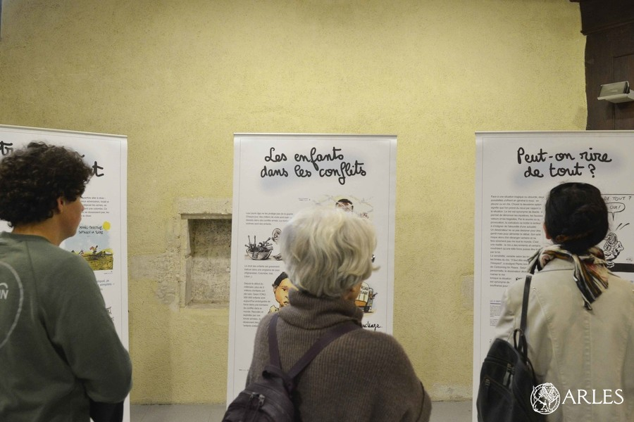 L'exposition «Dessins pour la Paix» © Romain Boutillier