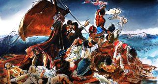 """""""Les Rohingyas de Birmanie"""" d'après """"Le Radeau de La Méduse"""" de Géricault / After """"The Raft of the Meduse"""" by Gericault"""