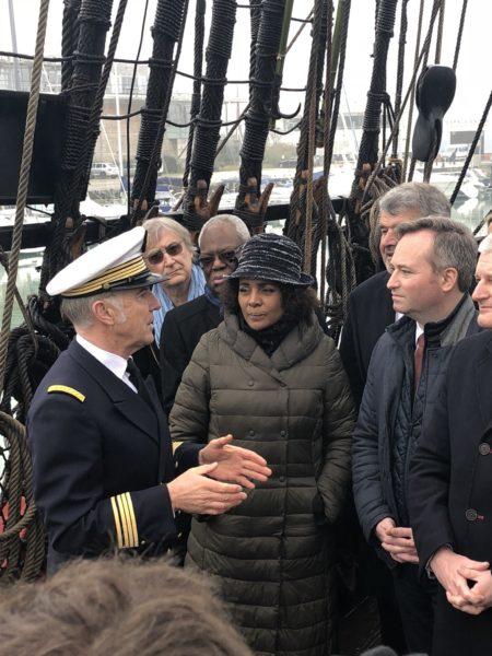 Inauguration du circuit avec le commandant Cariou et Michaelle Jean