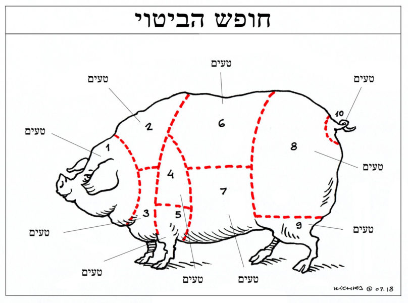 Supporting Avi Katz, cartoon by Kichka (Israel)