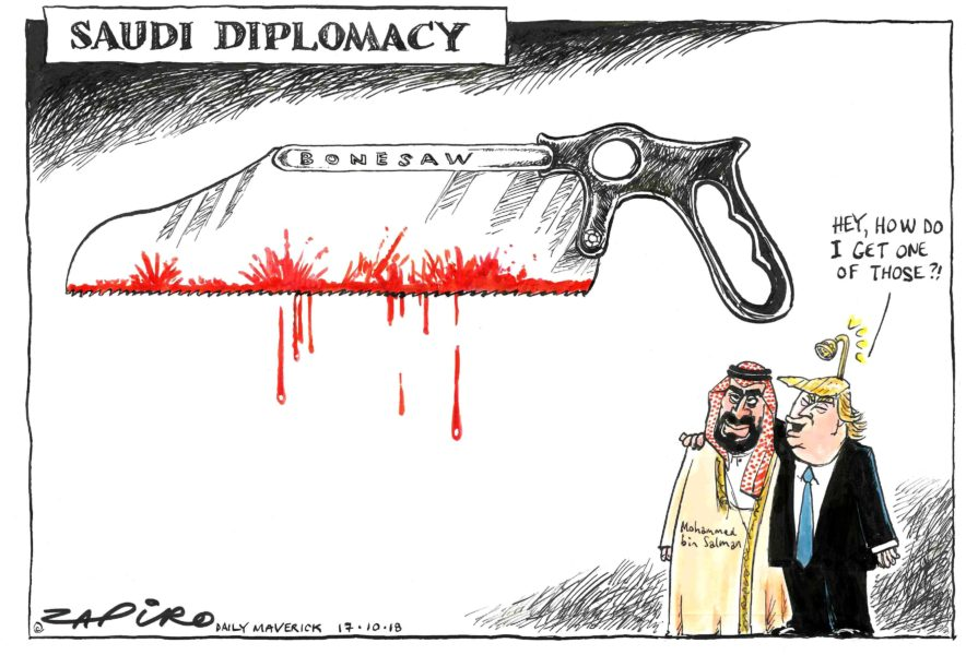 Image result for Jamal Khashoggi CARTOON
