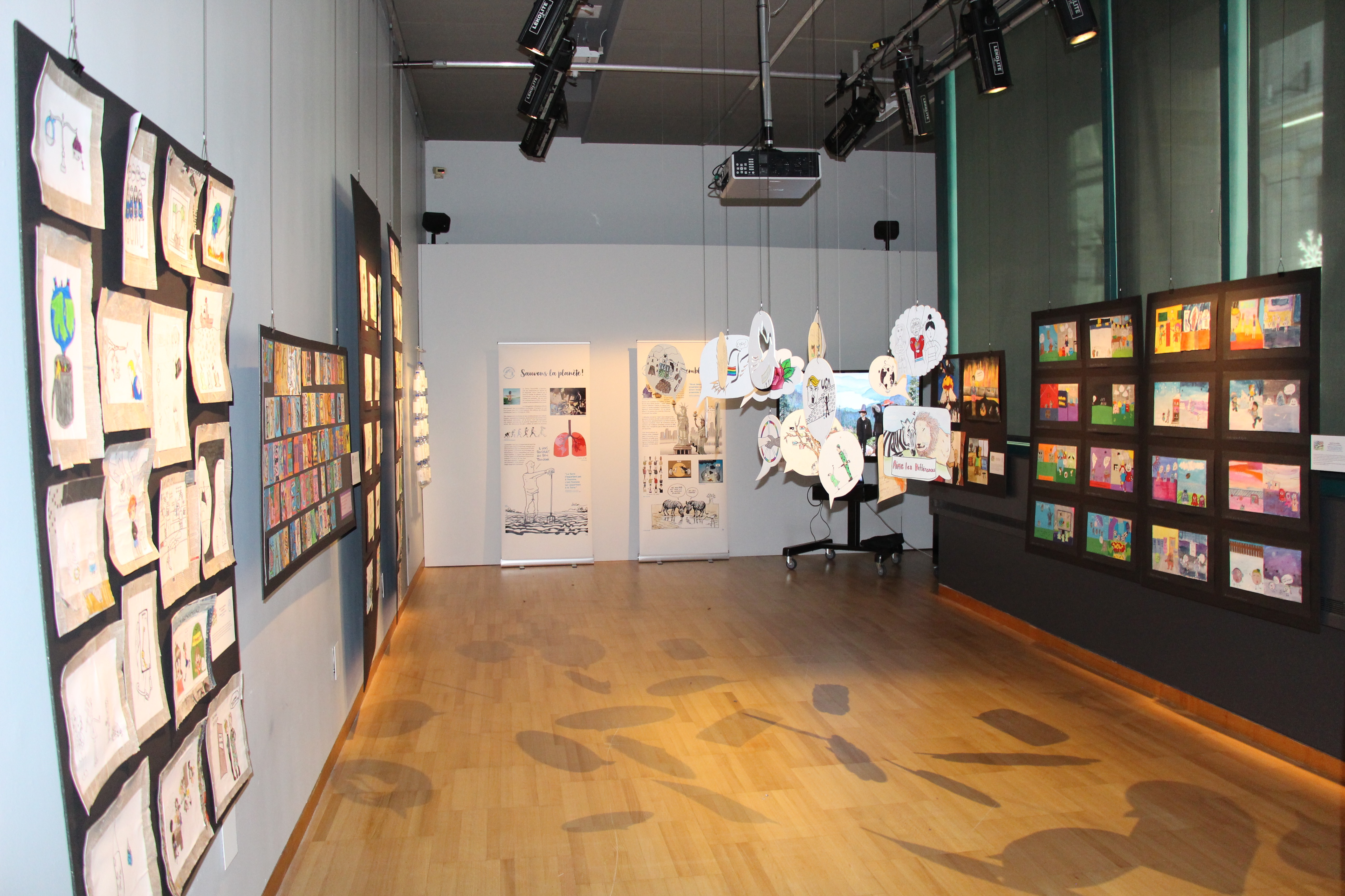 View of the student exhibition