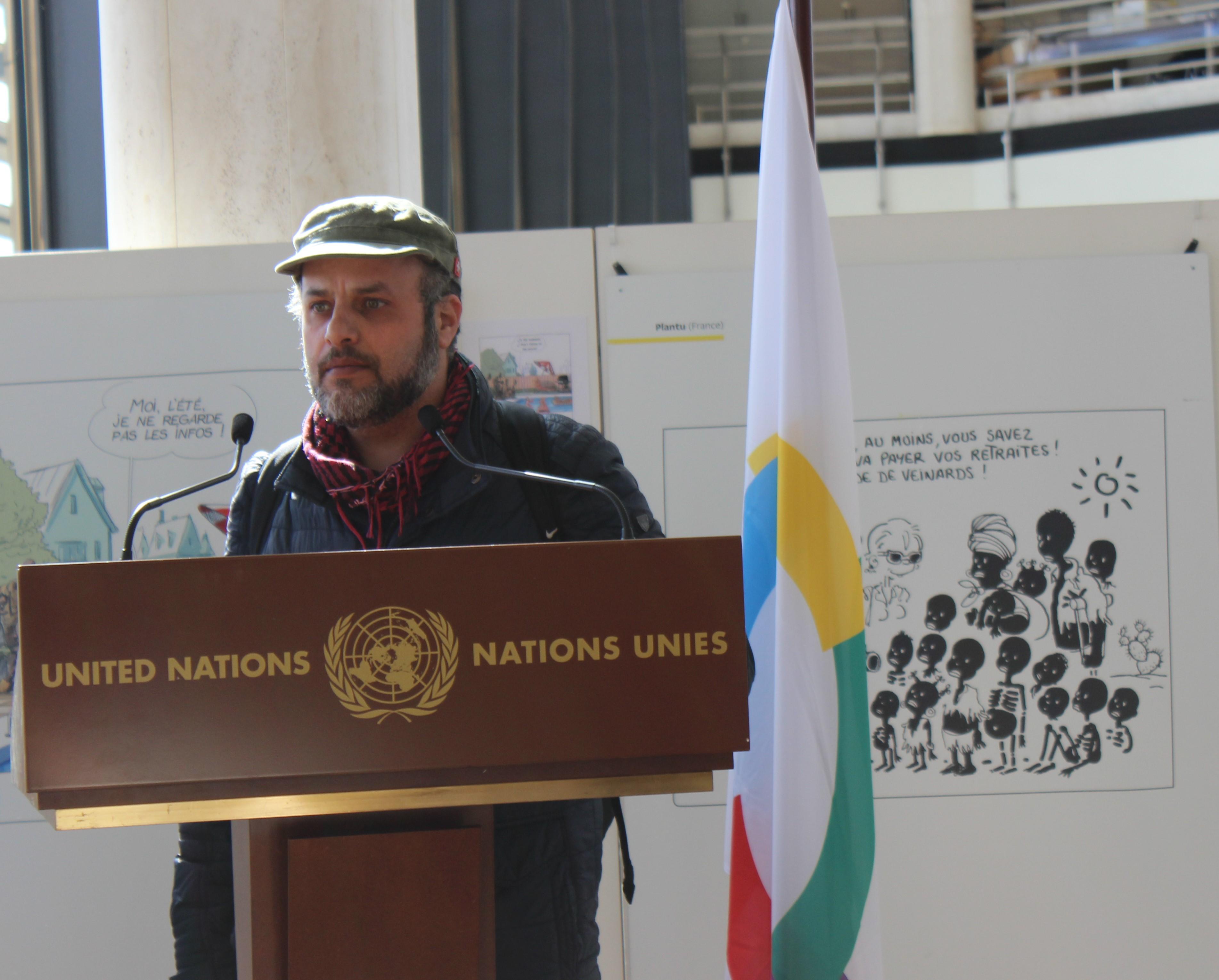 Hani Abbas (Syria/Palestine)- photo: UN Geneva : Programme des activités culturelles