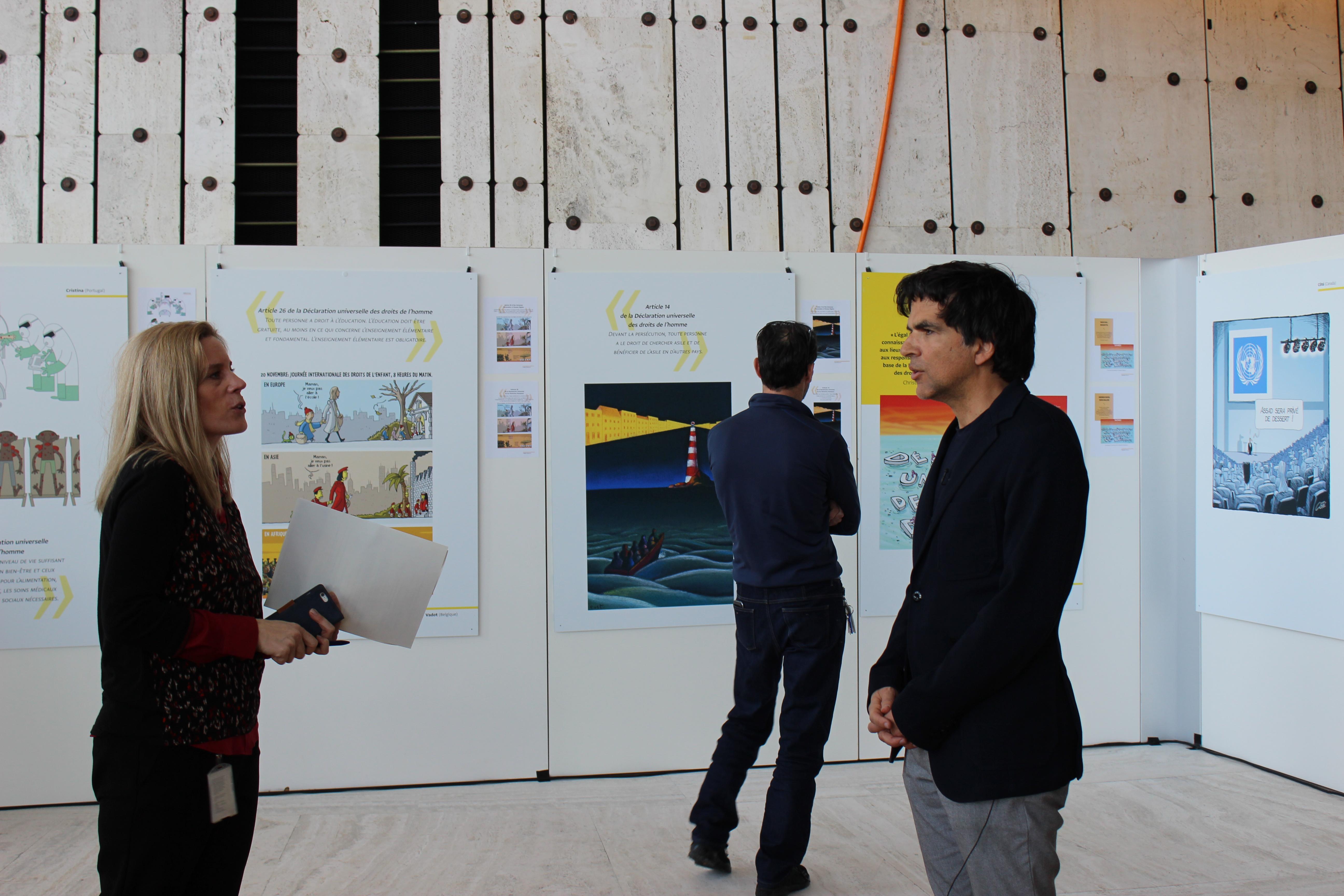 Preview of the exhibition «Human rights – still some way to go?»photo: UN Geneva : Programme des activités culturelles