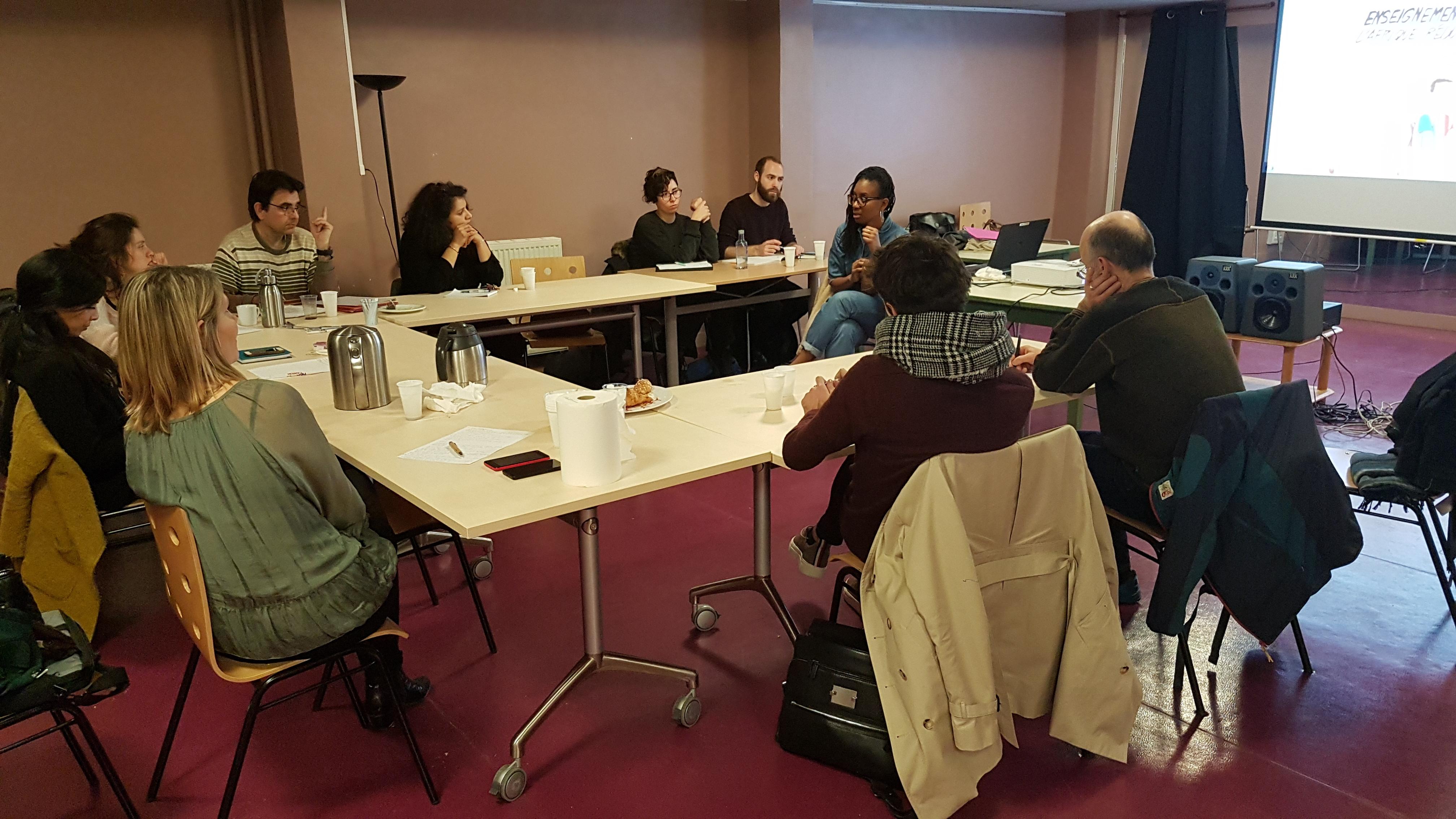 Formation des animateurs à Paris avec la dessinatrice Kam, février 2019