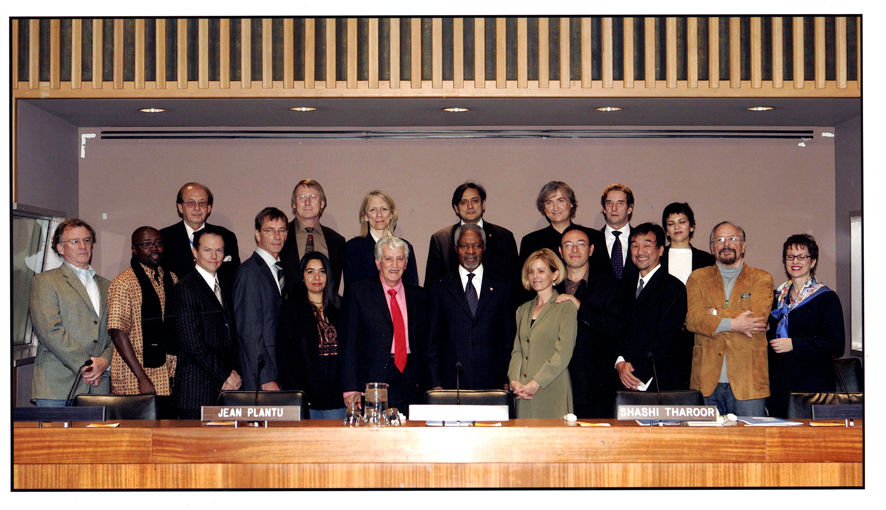 The cartoonists at the UN headquarters