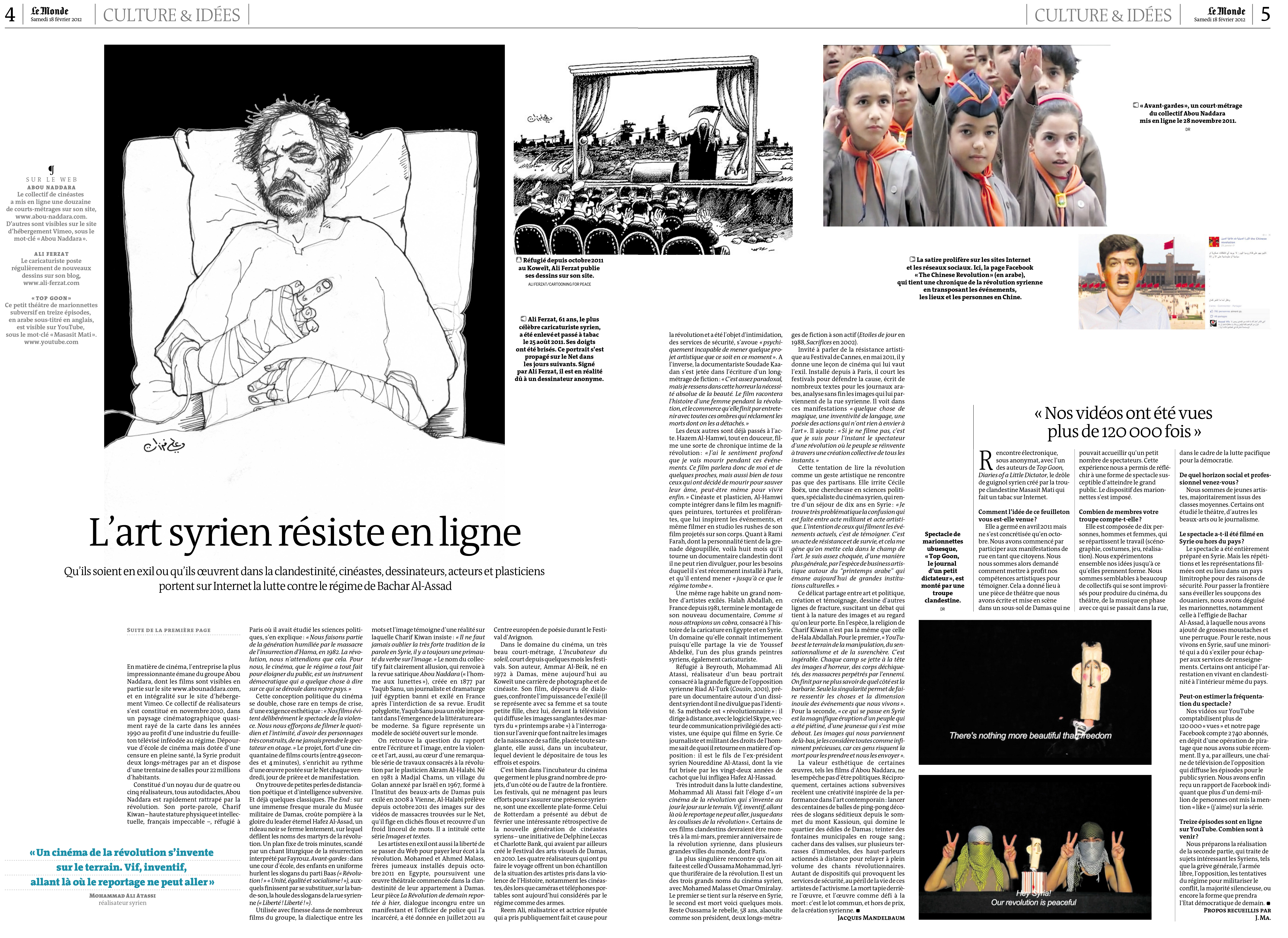 Article from Le Monde, February 21th, 2012