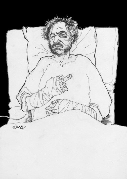 Autoportrait d'Ali Ferzat (Syrie)