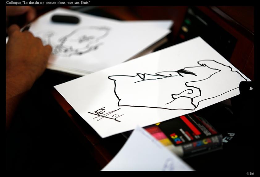 Dessin live – © Sisi