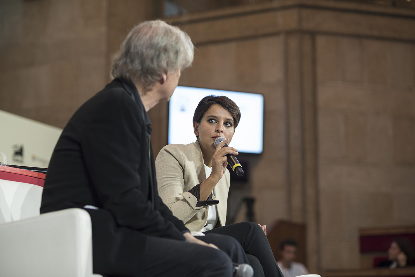 Plantu et Najat Vallaud-Belkacem, Ministre de l'Education Nationale