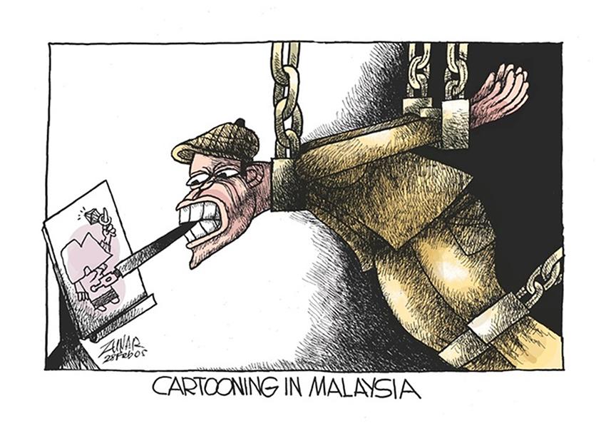 Dessiner en Malaisie, par Zunar