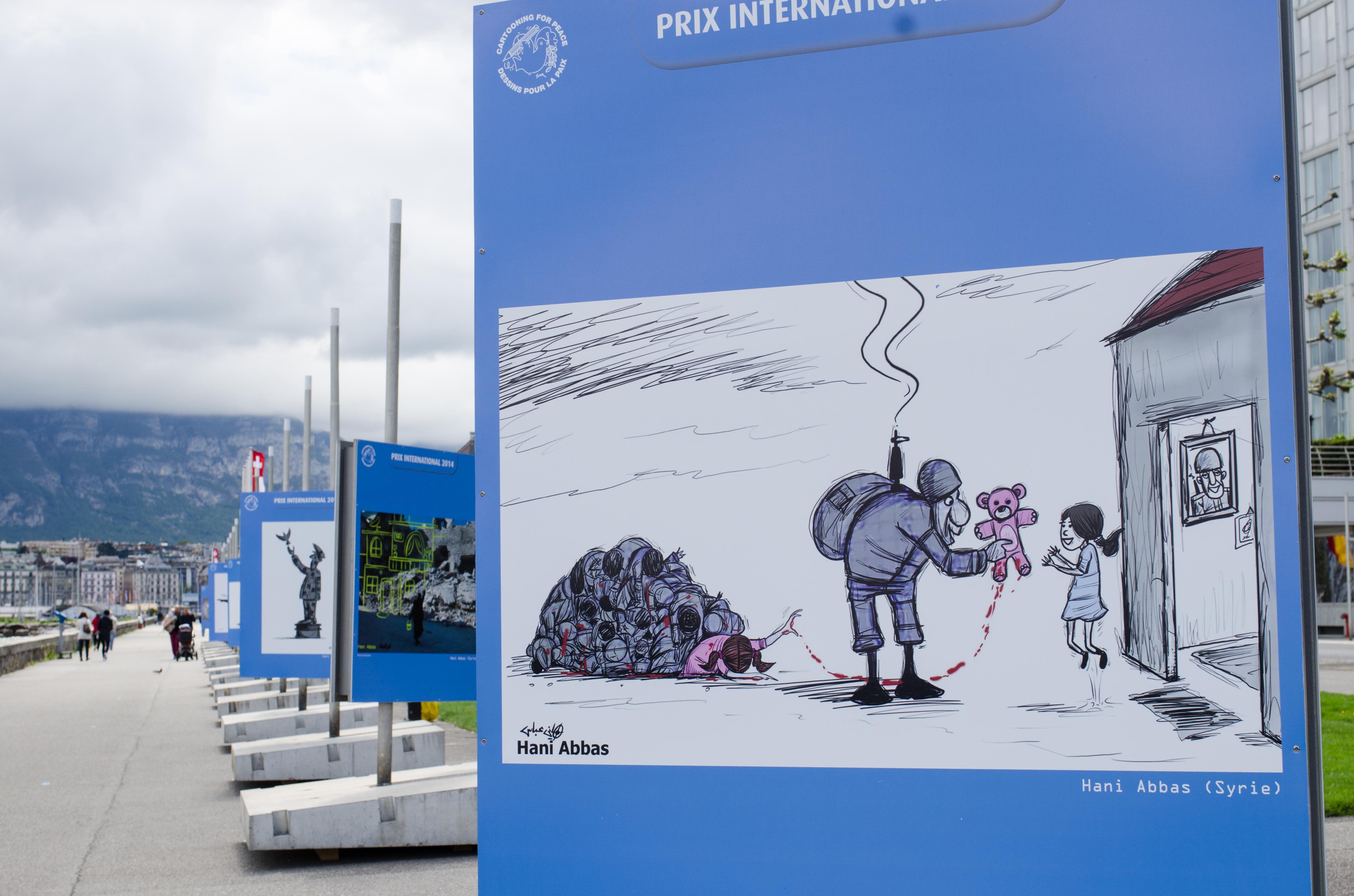 Cartoons of Hani Abbas, winner of the International Press Cartoon Prize 2014