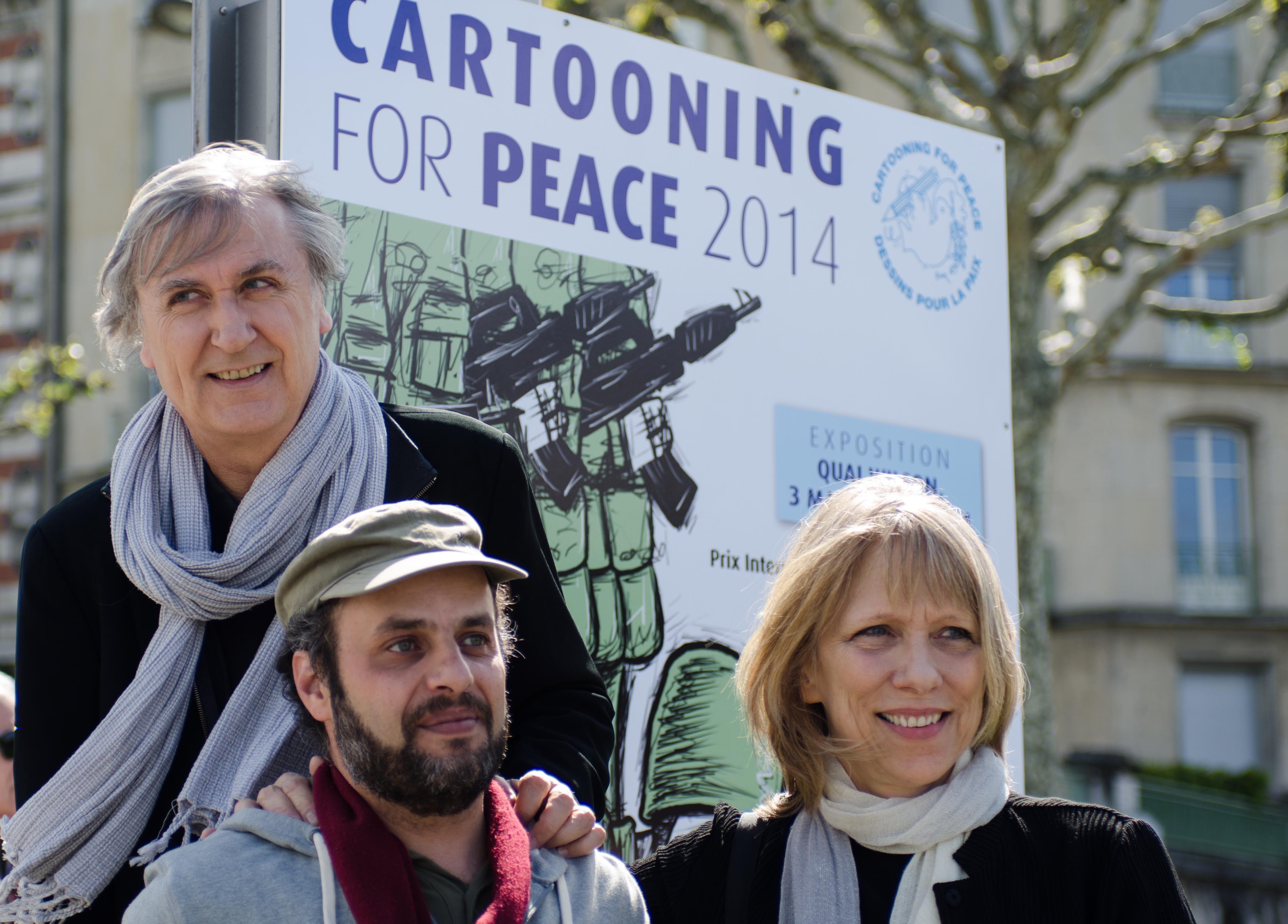Plantu, Hani Abbas and Liza Donnelly