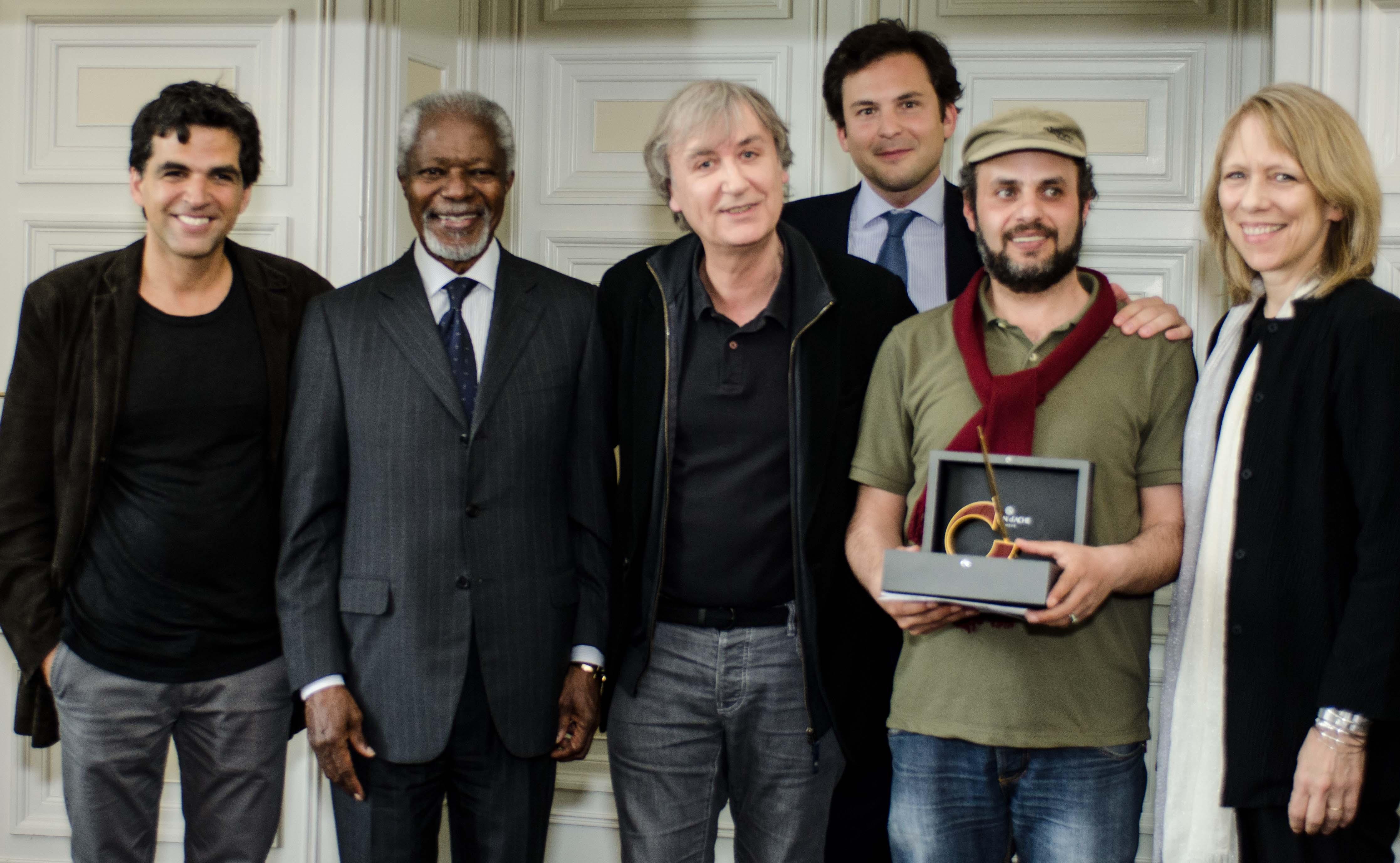 Remise du Prix à Hani Abbas