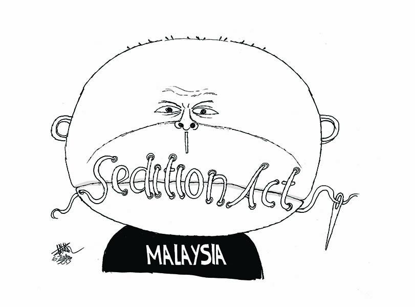 Loi sur la sédition, par Zunar