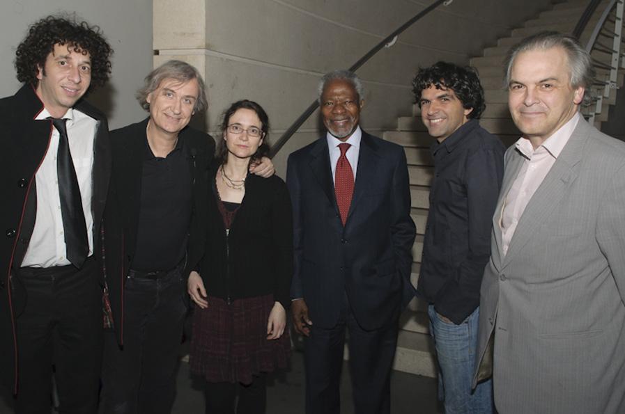 Plantu, Bénédicte, Kofi Annan et Chappatte
