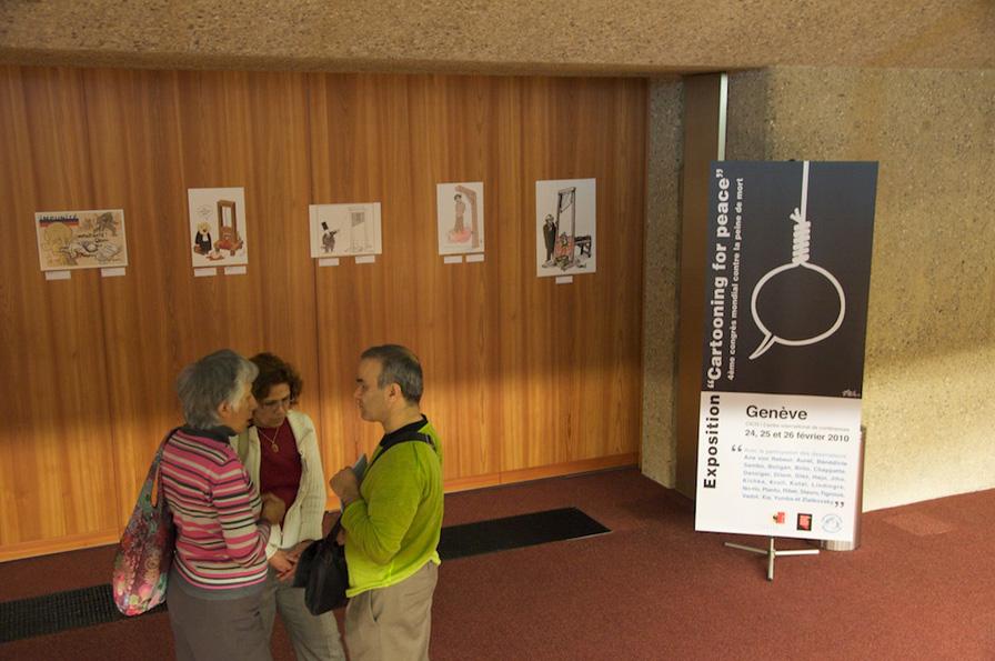 Cartoons exhibition inside the CICG
