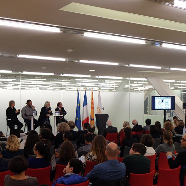 Inaugural symposium with Cartoonists at Villa Mediterranée on November 10