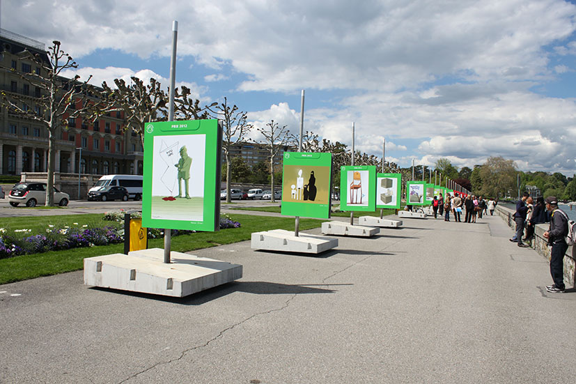 Iranian cartoons are displayed in Cartoons for Peace 2012 exhibition.