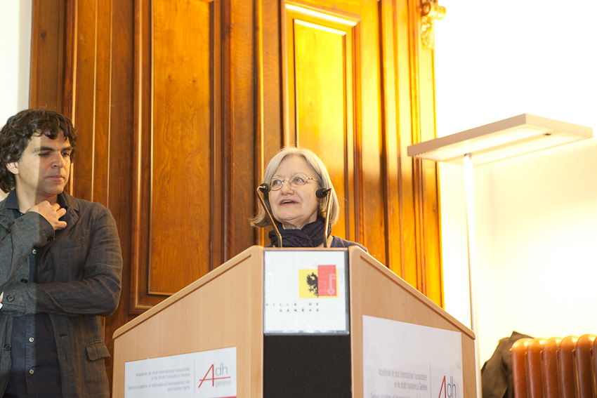 Chappatte and Marie Heuzé (CFP Foundation Vice Presidente)