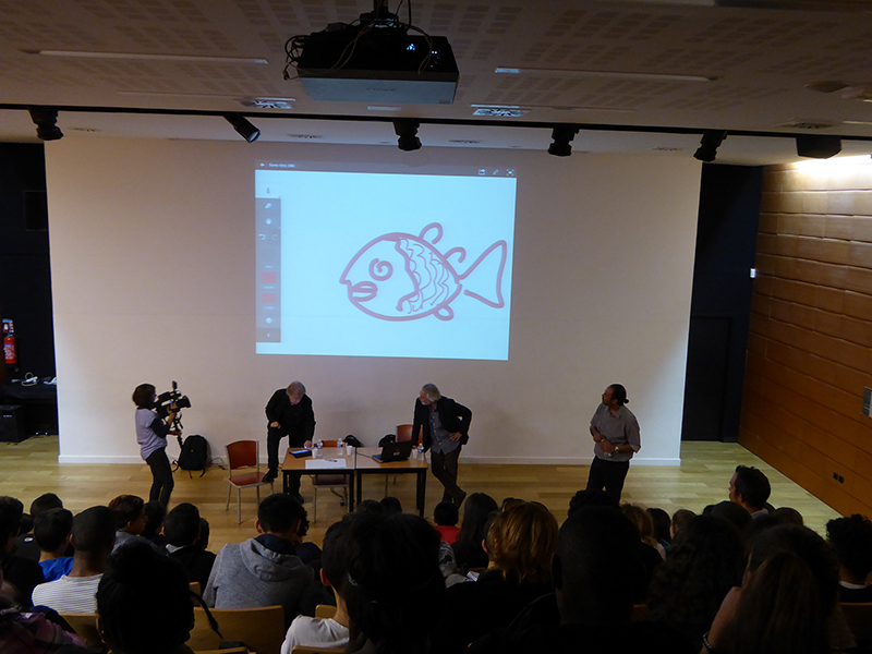 Rencontre avec les élèves de 4ème du Collège du Vieux Port à Marseille