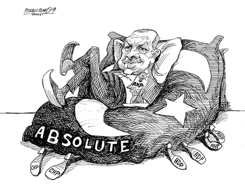 «Pouvoir absolu» – Peter Pimestrovich (Croatie), sur Cagle Cartoons