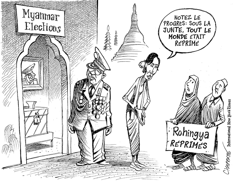 Chappatte (Suisse), publié dans The International New York Times