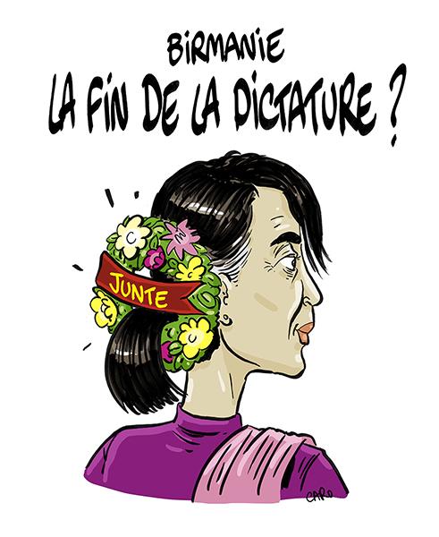 """Myanmar: the end of the Dictatorship ?"" – ""Junta"" – Caro (Switzerland), in Vigousse"