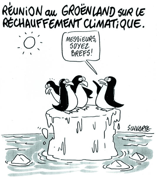 Meeting on an ice floe, by Schvartz (France) – Greenpeace's COP daily newsletter, Nov. 29