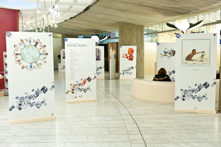 Exposition Cartooning for Human Rights au Parlement européen
